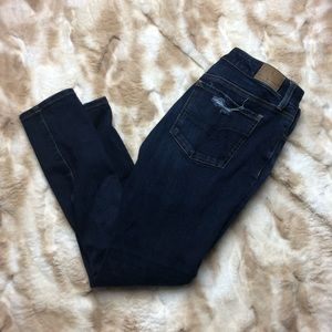 American Eagle Women 8 Short Dark Blue Jeggings